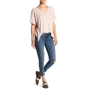 Free People Low Rise Distressed Jeans
